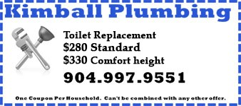 Coupon for toilet repair, $280 and $330 for Comfort Height